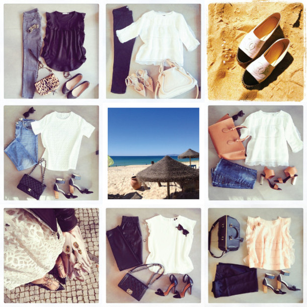 the working girl t-shirt shoes bag pants jewels blouse sunglasses jacket jeans dress sweater