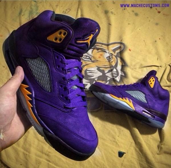 Shoes Lsu Jordan S Custom Jordans Purple Wheretoget