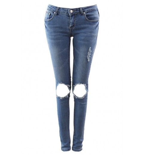 Torn Knee Skinny Jeans - All