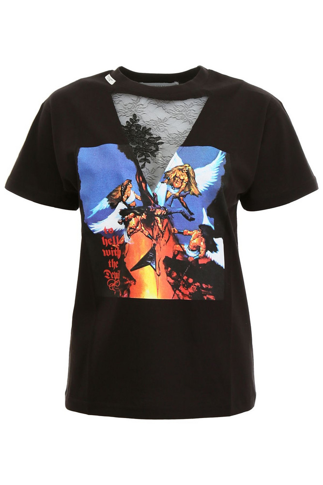 Forte Couture Angel T-shirt in black