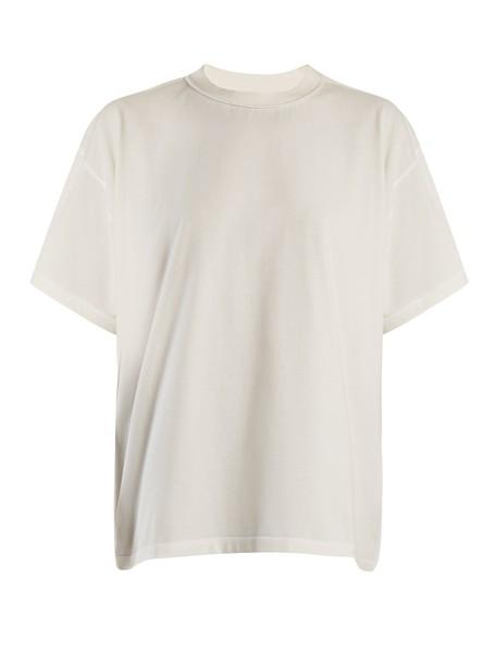 Mm6 Maison Margiela t-shirt shirt t-shirt back cotton white top