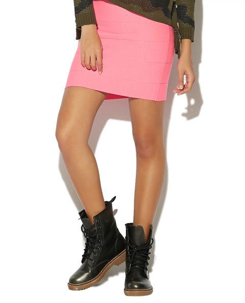 Paneled Sweater Mini Skirt | Wet Seal