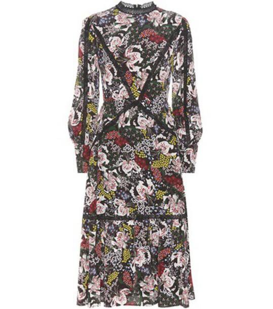 Erdem Oriana Printed Silk Dress