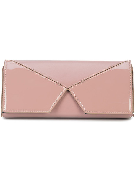 cushnie et ochs women clutch leather purple pink bag