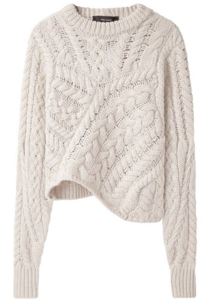 Sweater: off-white, cream, baggy shirt, cable knit, cable knit ...