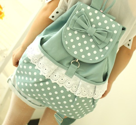 Same Day Shipping  Shipping Vintage Mint Lace Canvas Backpack from Moooh!! on Storenvy