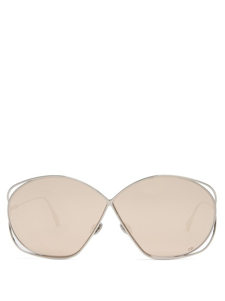 dior oversized metal sunglasses gold