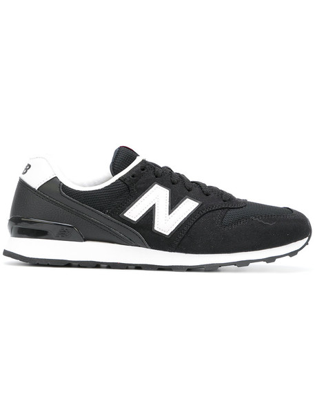 New Balance women sneakers lace suede black shoes