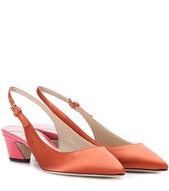 pumps orange shoes