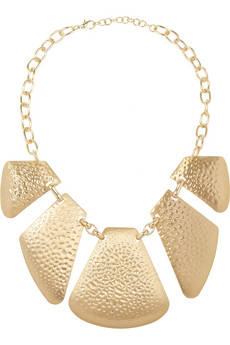 Hammered gold-plated necklace | Kenneth Jay Lane | THE OUTNET