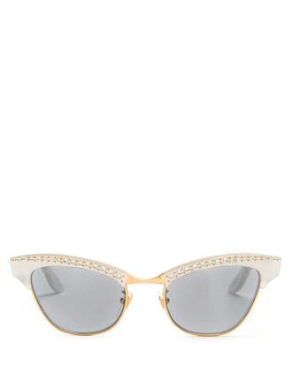 embellished sunglasses white