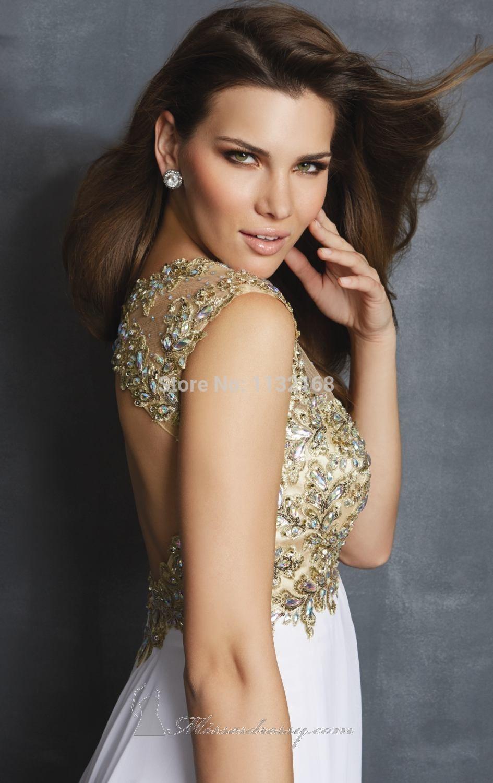 White Floor Length Prom Dresses