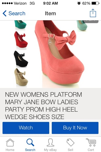 coral wedges with bow shoes coral bow wedges