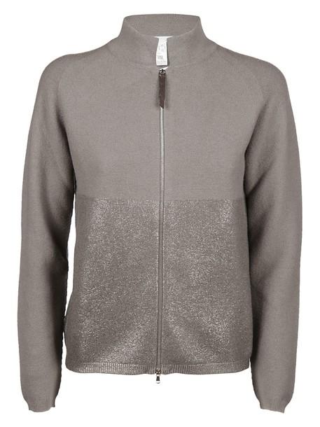 Fabiana Filippi cardigan cardigan metallic grey sweater