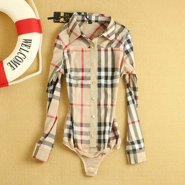 2013 Women's Fashion England Style Classical Plaid Long sleeve Conjoined Body Shirts Lady Brand OL Slim Fit Blouse-in Blouses & Shirts from Apparel & Accessories on Aliexpress.com