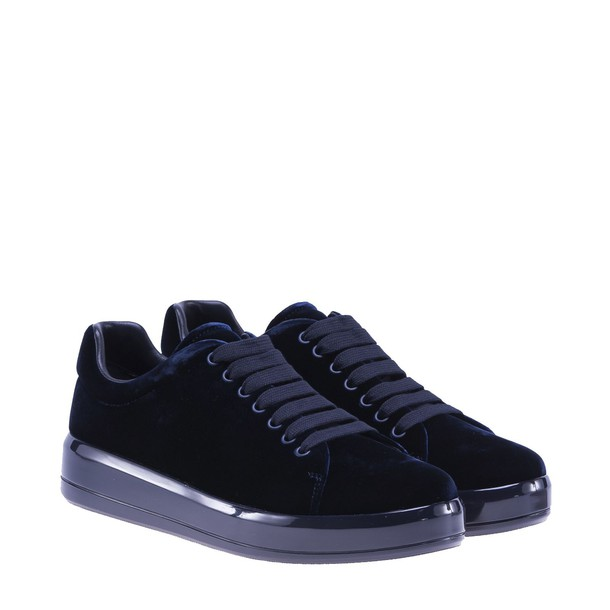 Prada Linea Rossa sneakers velvet blue shoes