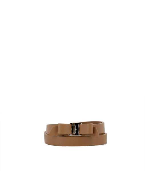 Salvatore Ferragamo leather beige jewels