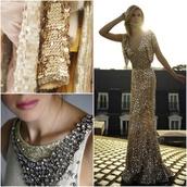 dress,gold sequins,gold,prom dress,long prom dress,maxi dress