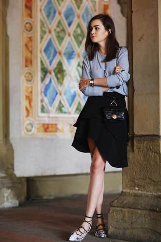 style scrapbook blogger skirt top shoes bag