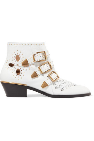 leather ankle boots studded ankle boots leather white shoes