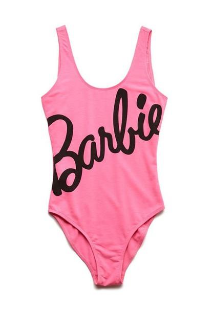 jumpsuit swimwear barbie pink swimwear one piece swimsuit