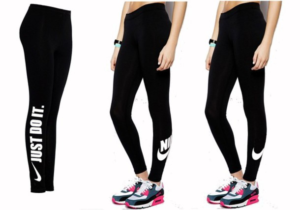 white with gold nike leggings women