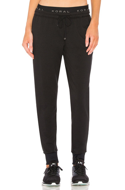 KORAL Station Sweatpant in black
