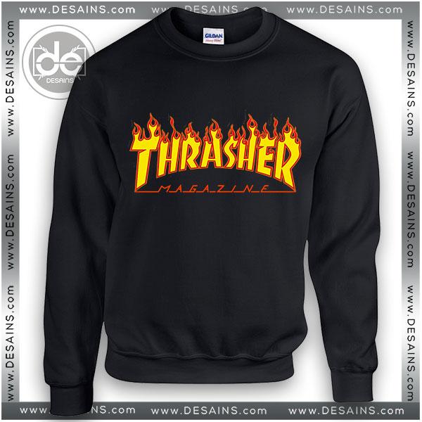 Sweatshirt Thrasher Magazine Fire Logo Sweater Womens Sweater Mens