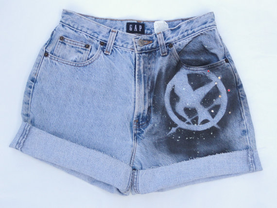 For sale hunger games girl on fire shorts