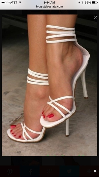 shoes white high heels high heel sandals