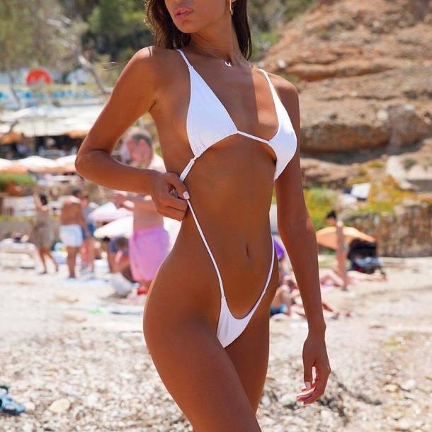 bikini white bikini swimwear