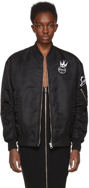 McQ Alexander McQueen jacket bomber jacket black