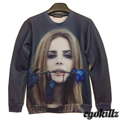 Aliexpress.com : Buy Free shipping 2014 Lana del rey head portrait thin sweatshirt fashion msgm from Reliable fashion rulers suppliers on ED FASHION.