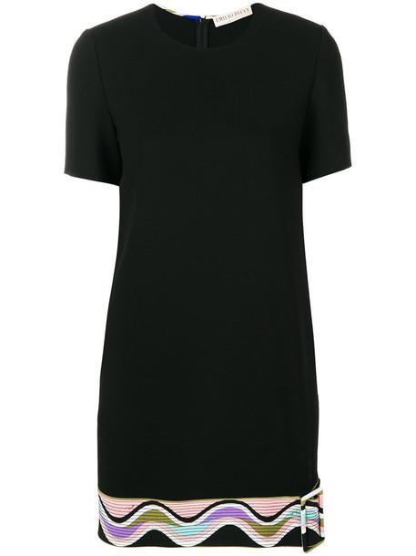 dress women spandex black silk wool