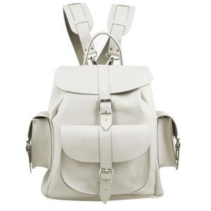 Grafea bianca medium leather rucksack