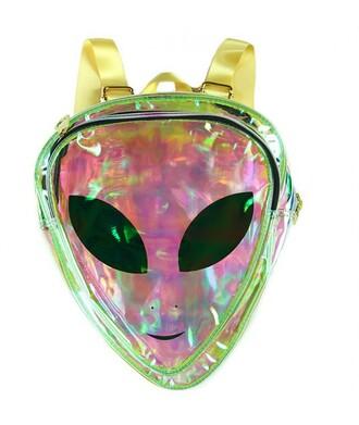 bag back to school alien backpack transparent  bag cool trendy fashion style it girl shop