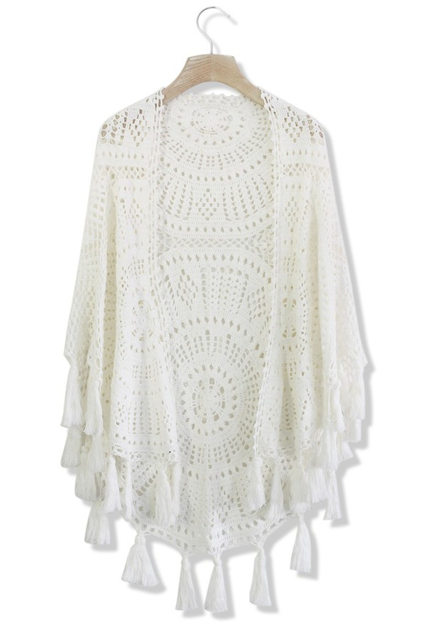 top fringed poncho white poncho poncho white