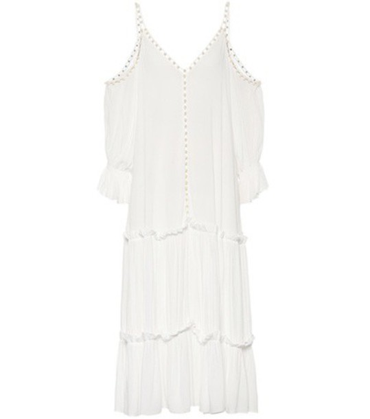 Jonathan Simkhai Embellished crêpe dress in white
