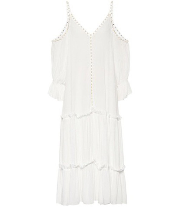 Jonathan Simkhai Embellished crêpe dress in white