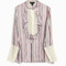 Giambattista valli women`s striped lace shirt