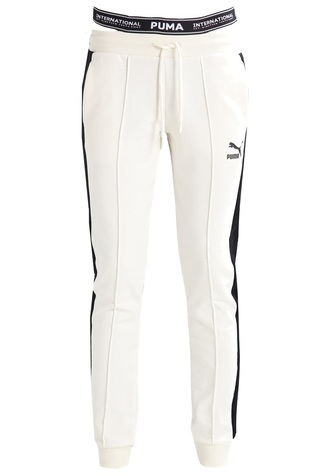 pants puma sweatpants streetstyle black mesh exercise pants style white sexy