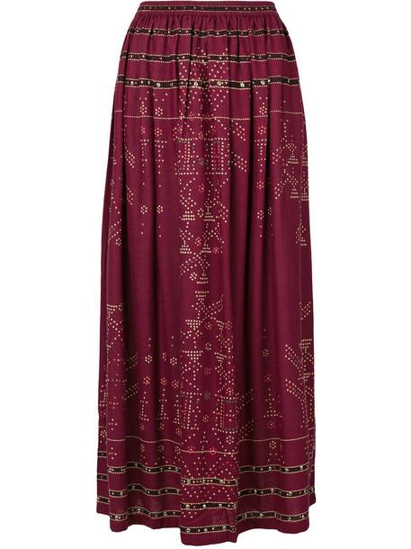 MES DEMOISELLES skirt women silk red