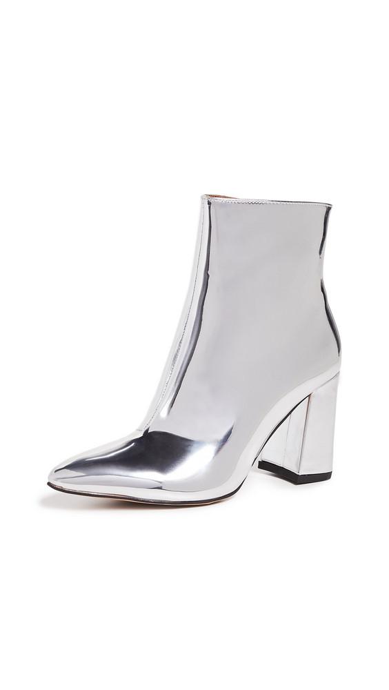 Matiko Lucinda Block Heel Booties in silver
