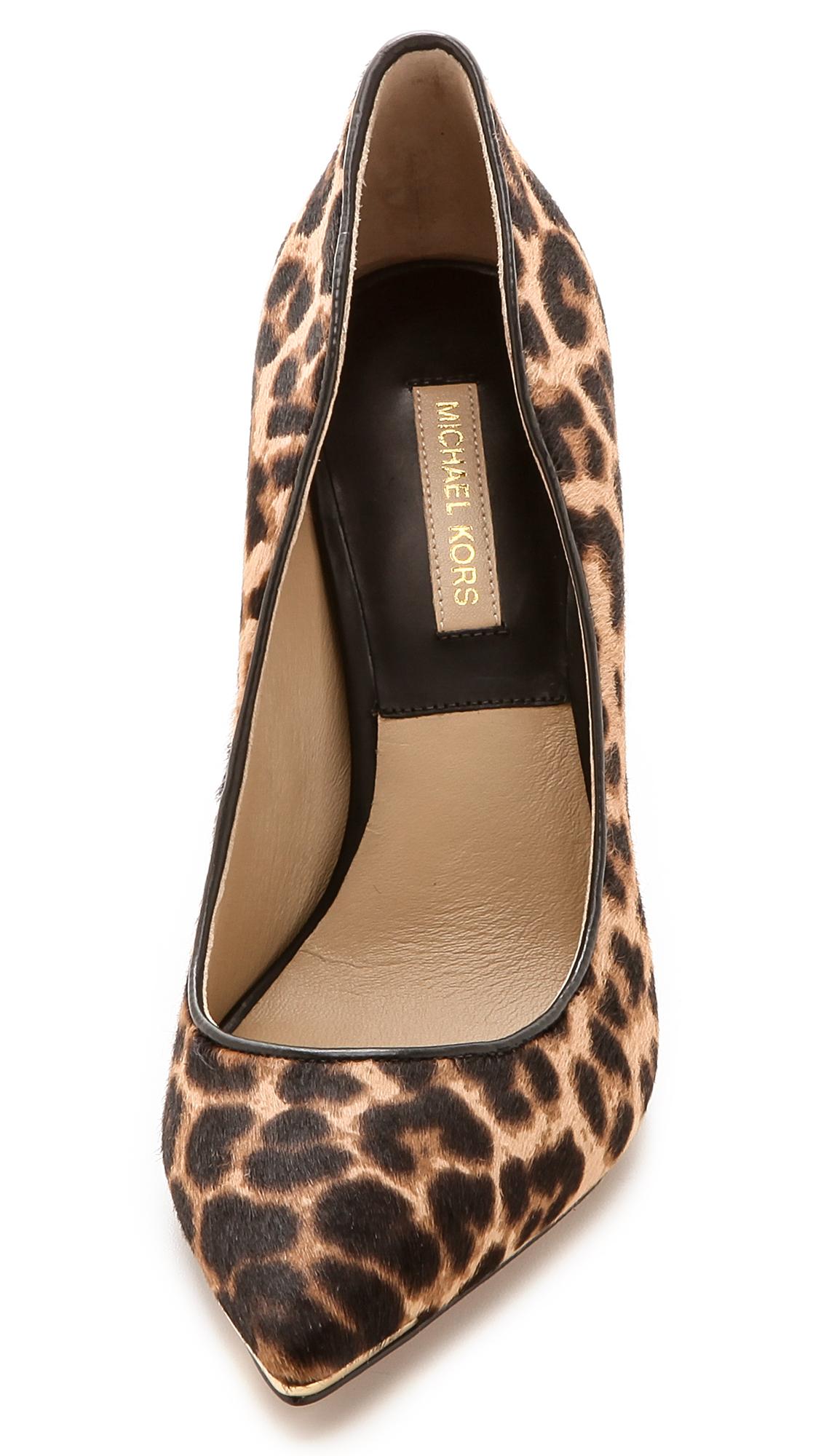 Michael kors collection avra leopard haircalf pumps