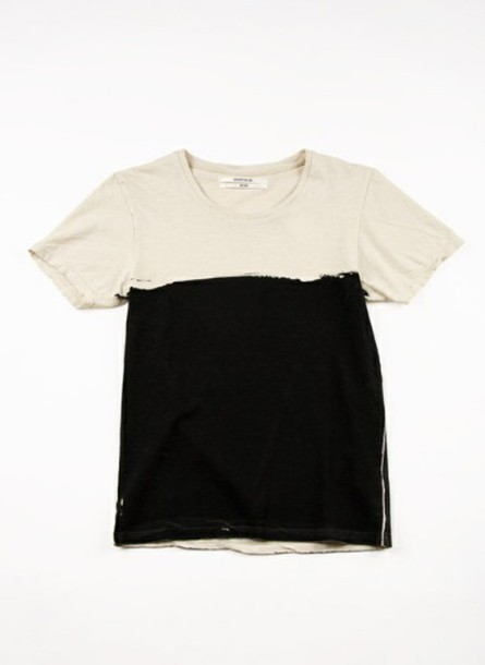 t-shirt black off-white