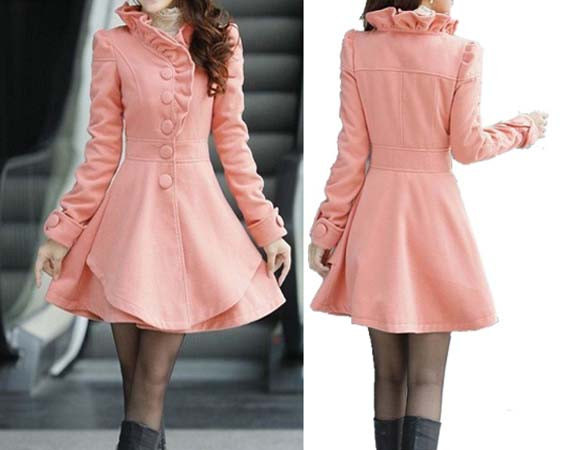 Coat Pink Long Dress Spring Trench Coats by colorfulday01