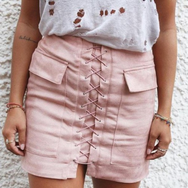 Skirt Lace Up Vintage Tumblr Outfit Fashionmovements Boho Bohemian Summer Party Instagram