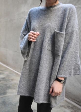 shirt tumblr shirt tumblr outfit tumblr sweater kawaii grey sweater