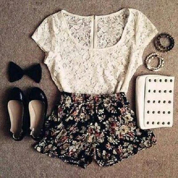 bows top shorts