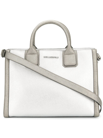 women leather grey metallic bag